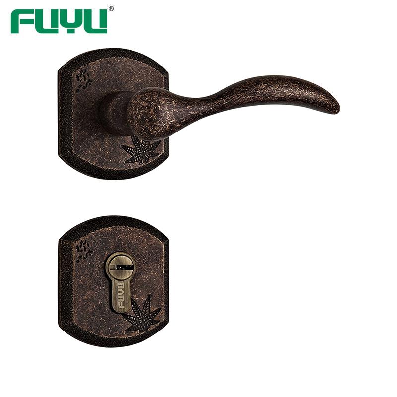 Antique copper cylinder lock