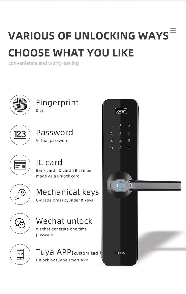 FUYU custom biometric gate lock for residential