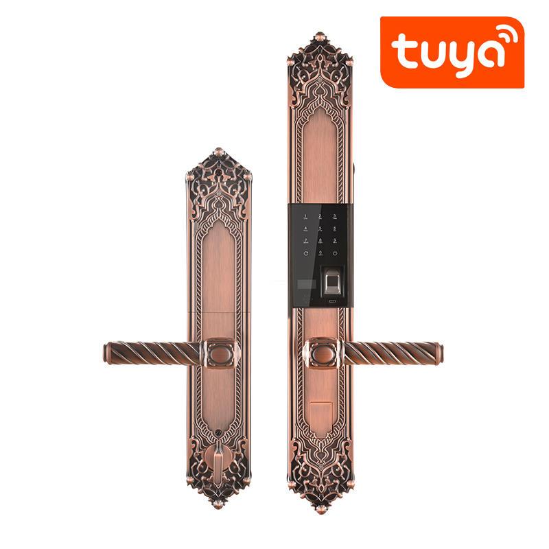 Home Main Door Finger Print Security Smart Keys Code Door Lock with TUYA