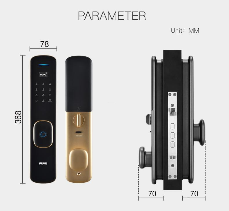 FUYU fingerprint entry door lock on sale for home-15