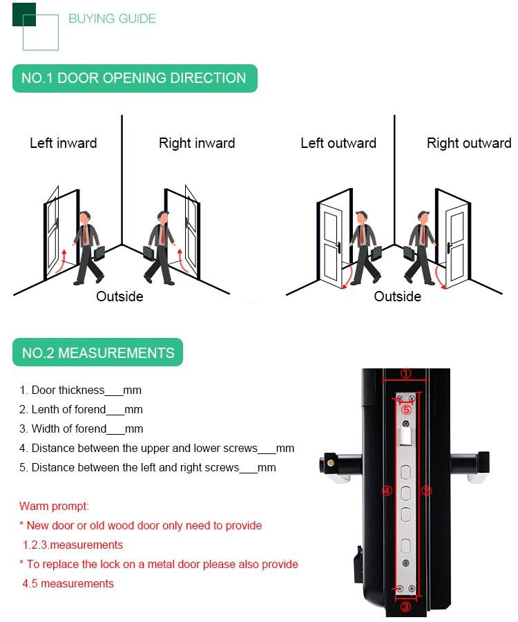 FUYU best biometric door lock for wooden door-7