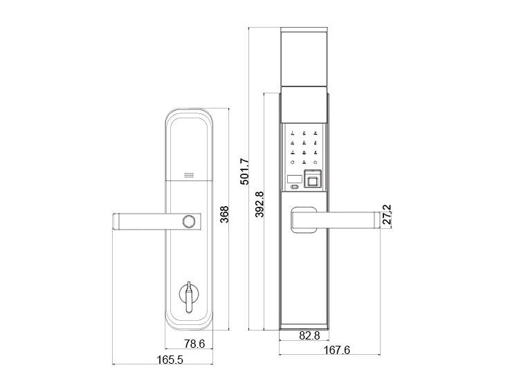 FUYU high tech digital keypad door lock manufacturer for home-3
