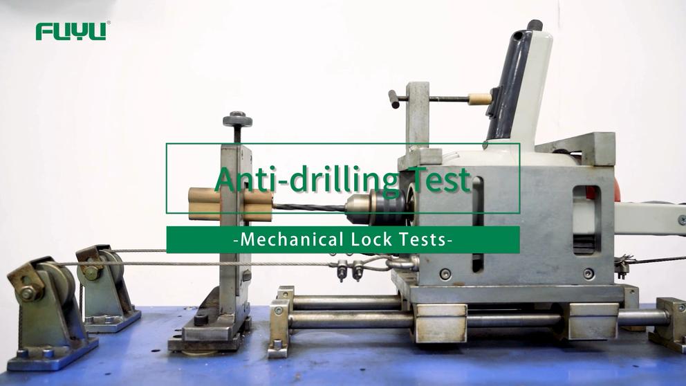 Anti-drilling Test of FUYU Mechanical Lock Tests
