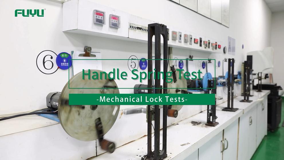 Handle Spring Test of FUYU Mechanical Lock Tests