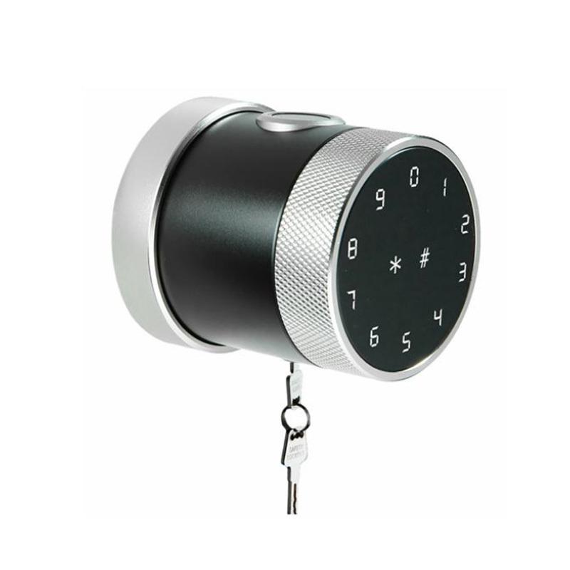 Cylindrical Grip To Open Easily Installed Round Code Smart Door Lock