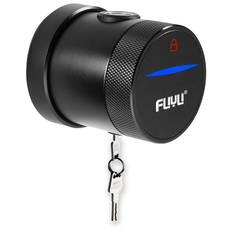 Cylindrical Grip To Open Easily Replaced Fingerprint Round Smart Door Lock