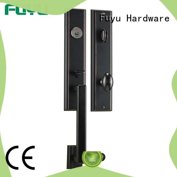 brass fire door lock door for shop FUYU