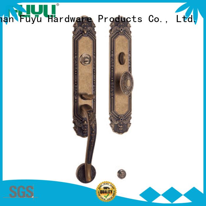 high -tech brass bathroom door handles with lock handle on sale for wooden door