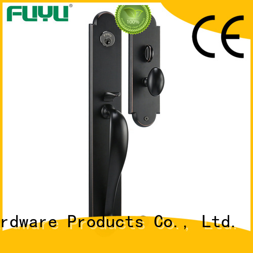 FUYU american zinc alloy door lock for timber door with latch for mall