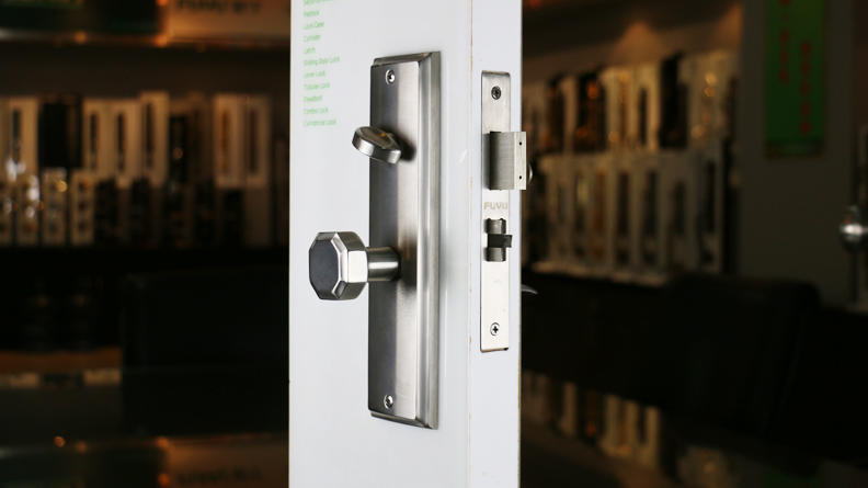 Top Security American Mortise Cylinder Type Main door Big Handle Lock-2