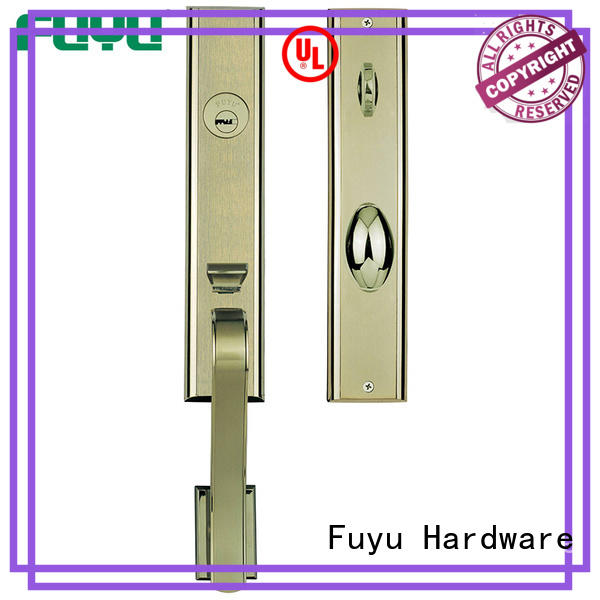 install zinc alloy villa door lock black for mall FUYU