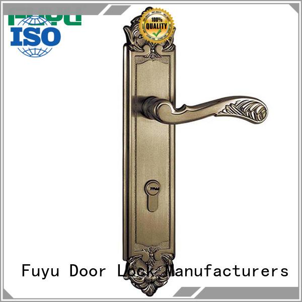 FUYU panel lever handle door lock on sale for entry door