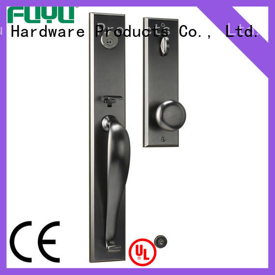 Zinc alloy big handle long plate beautiful design entrance door locks