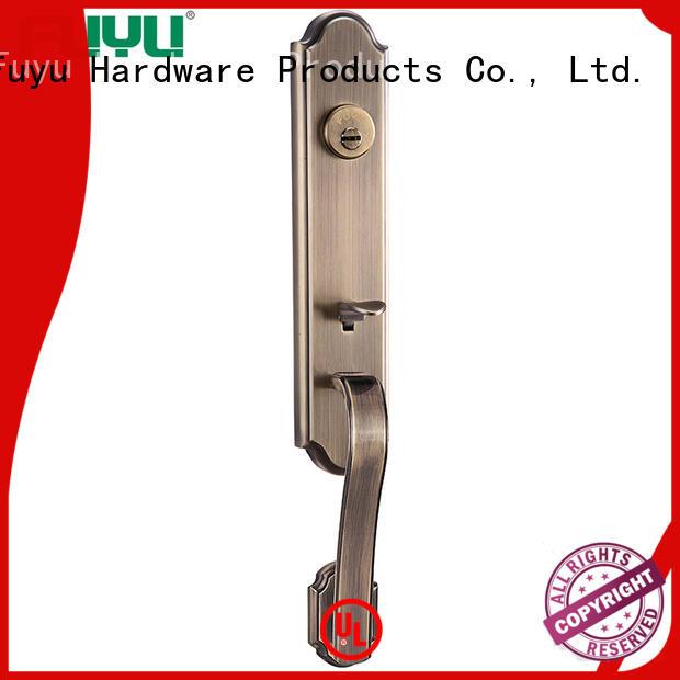 FUYU brass tubular cylinder lock with latch for residential