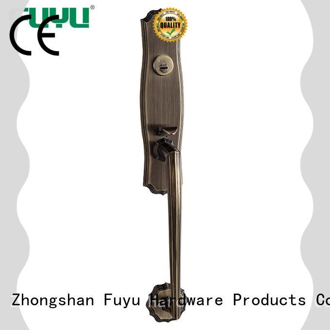 zinc alloy door lock for metal door gate for mall FUYU