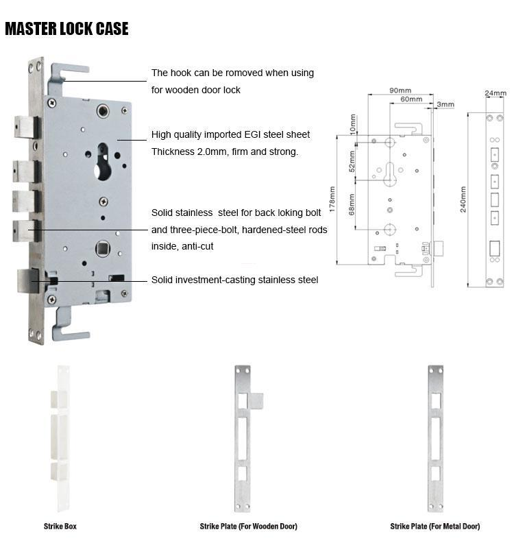 FUYU quality door lock design with latch for mall-3
