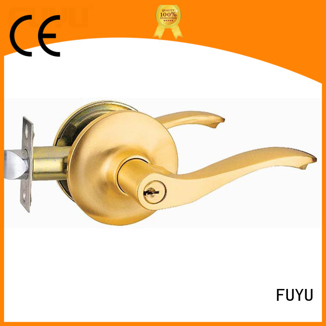 FUYU high security exterior door locks on sale for mall