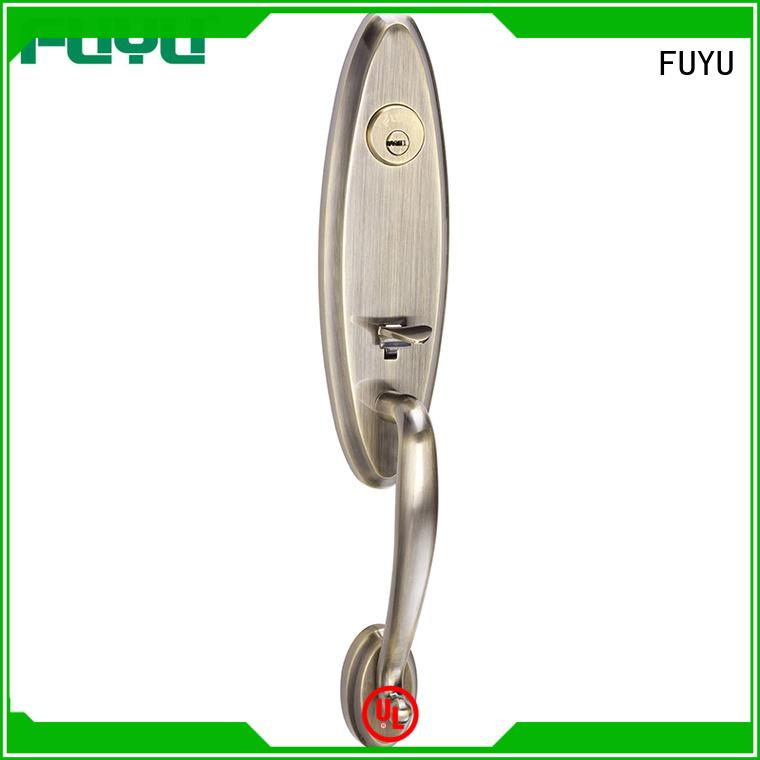 FUYU durable zinc alloy grip handle door lock external for entry door