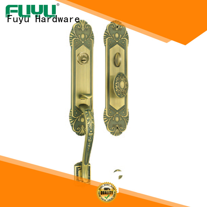 quality brass bathroom door handles with lock with latch for shop