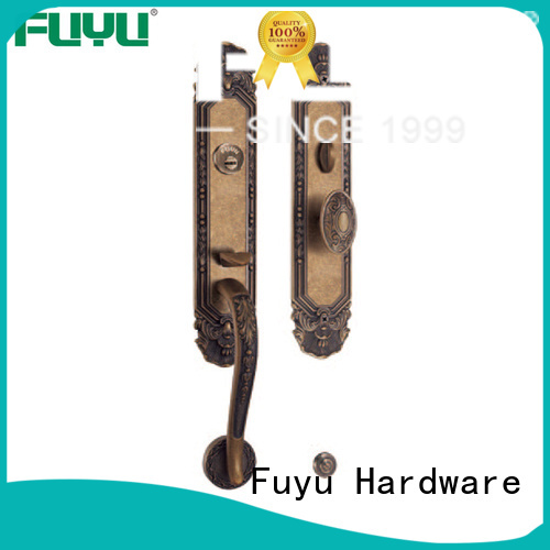 FUYU high security brass door locks and handles easy for mall