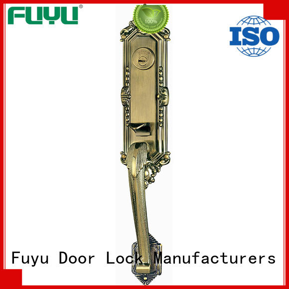 FUYU exterior zinc alloy mortise door lock on sale for entry door