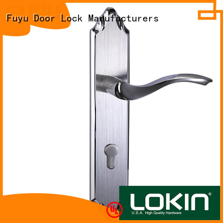 durable aluminium door lock two with international standard for mall