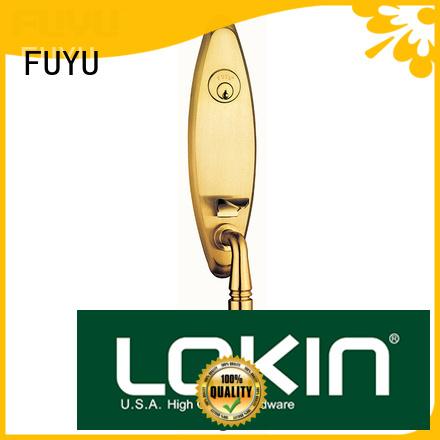 FUYU grip zinc alloy mortise door lock on sale for shop
