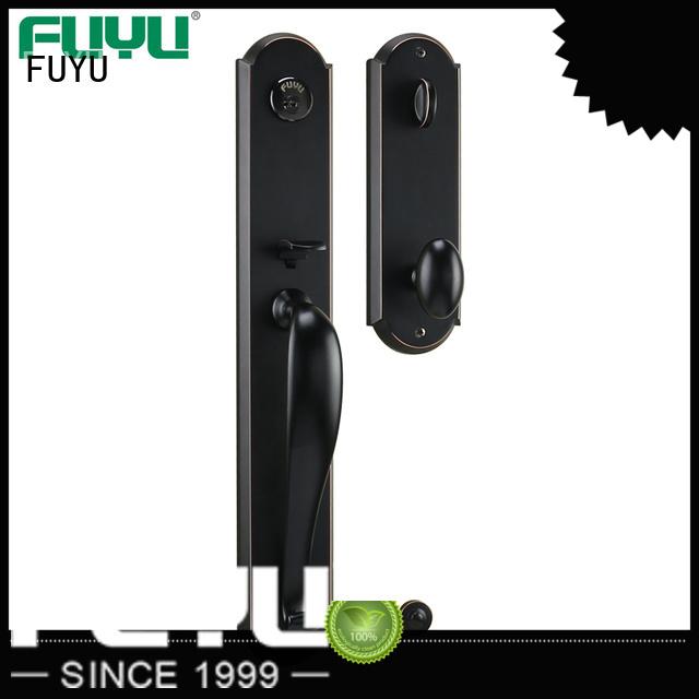 top zinc alloy door lock for metal door with latch for mall FUYU