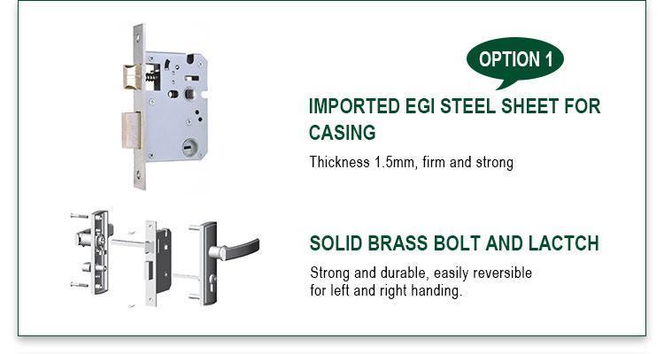 FUYU single aluminium door lock with international standard for shop-2