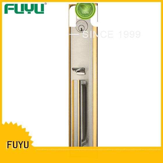 FUYU steel simple door lock with latch for entry door