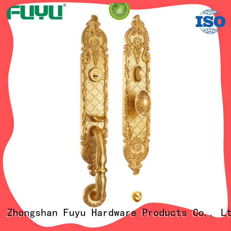 FUYU apartment brass lock on sale for wooden door