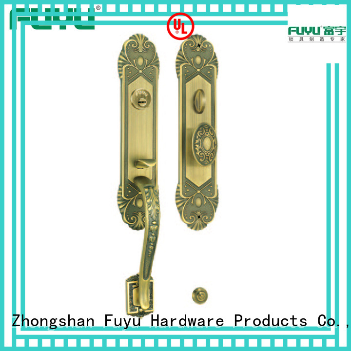 antique mortise lock brass with latch for wooden door FUYU