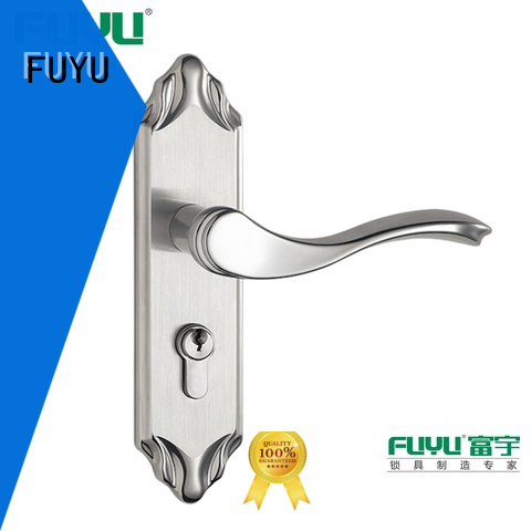FUYU single aluminium door lock with international standard for shop