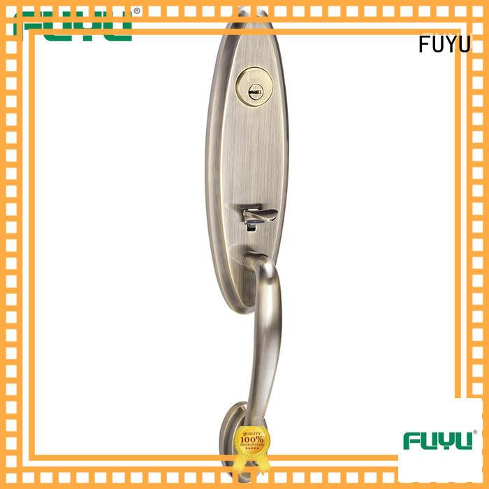FUYU style zinc alloy door lock factory with latch for entry door