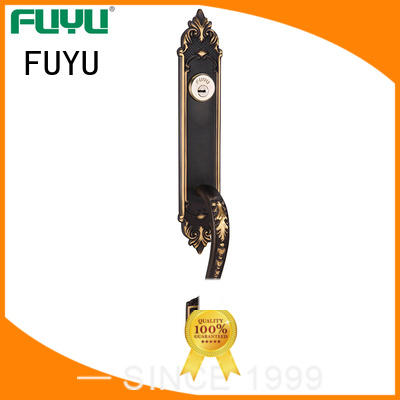 FUYU brass door lock easy for mall