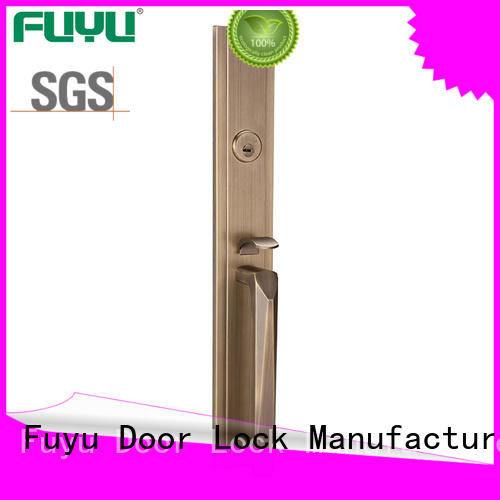 FUYU products zinc alloy handle door lock on sale for mall