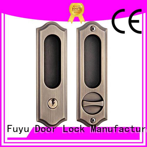 FUYU install zinc alloy door lock for timber door on sale for shop