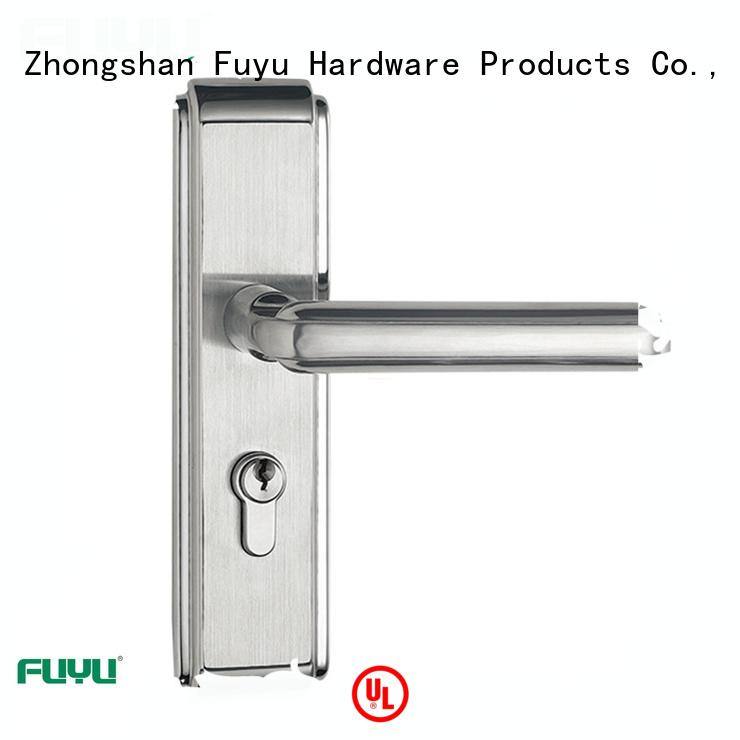 FUYU wholesale panel lever handle door lock on sale for wooden door