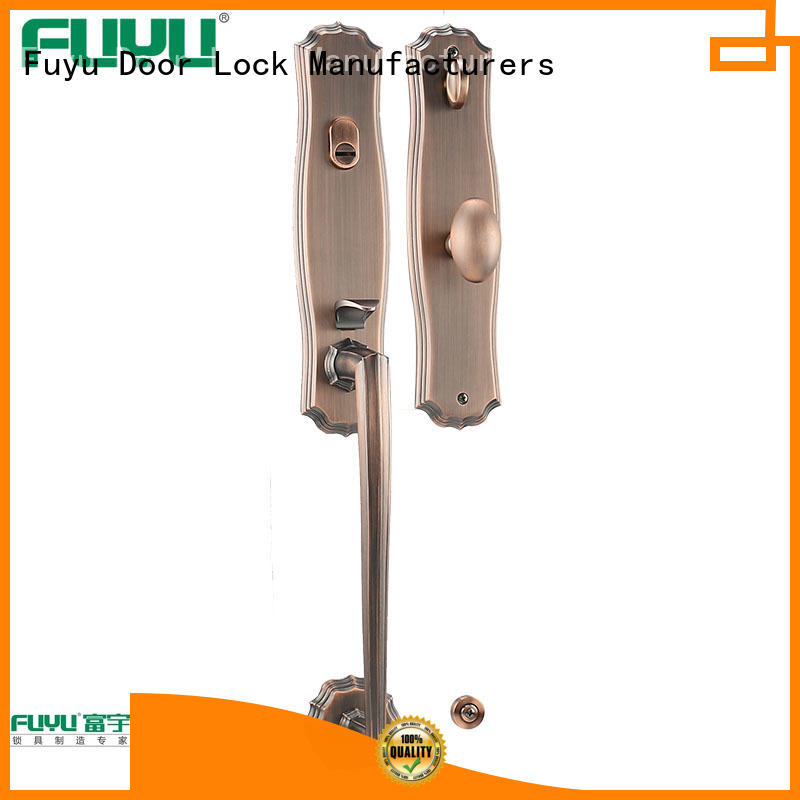 FUYU high security zinc alloy handle door lock with latch for mall