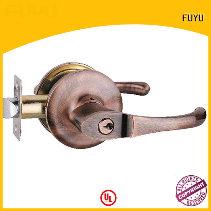 FUYU exterior entrance door locks extremely security for entry door