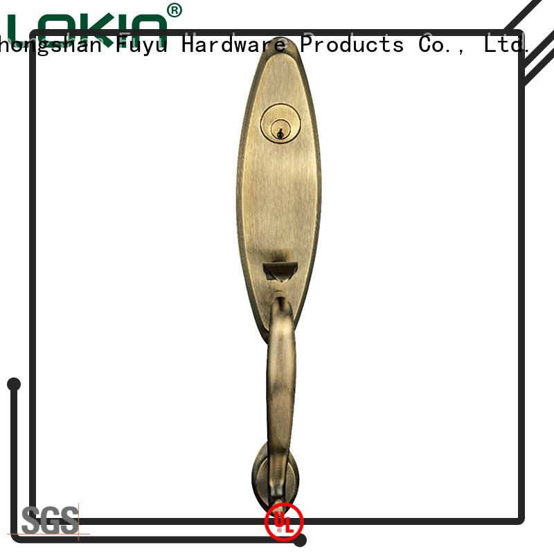 Zhongshan zinc alloy mortise grip handle door locks factory