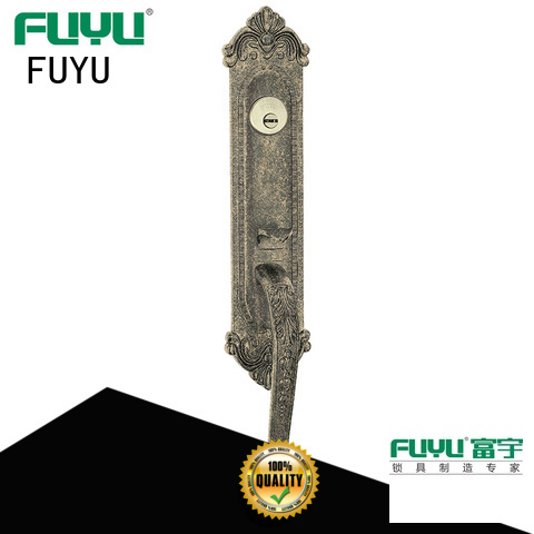 FUYU high security zinc alloy entry door lock usa for shop