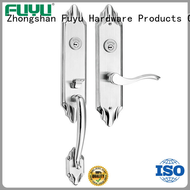 FUYU stronge customized stainless steel door lock with international standard for wooden door