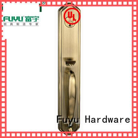 FUYU big zinc alloy door lock for timber door on sale for mall