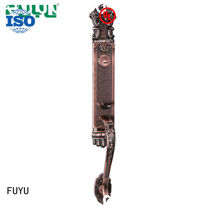 FUYU long zinc alloy mortise door lock with latch for indoor