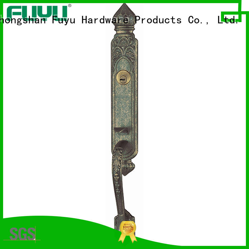 FUYU chinese zinc alloy handle door lock on sale for mall