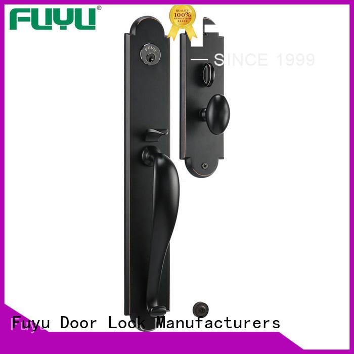 FUYU quality grip handle door lock manufacturer for shop