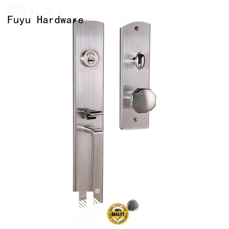 FUYU online stainless steel entry door locks sale for mall