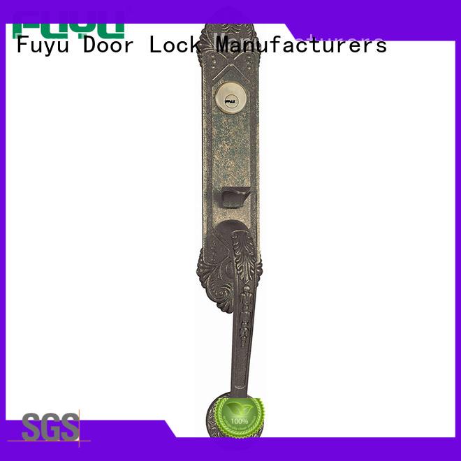 FUYU durable zinc alloy door lock for wooden door with latch for indoor