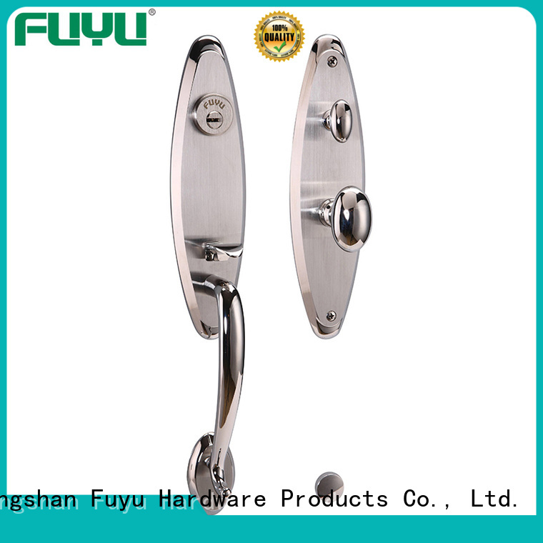 handle stainless steel security door lock cylinder for mall FUYU